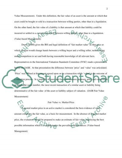 Fair value: boon or curse essay example