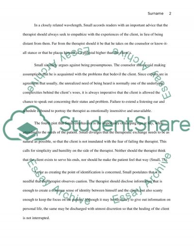 Becoming Naturally Therapuetic essay example