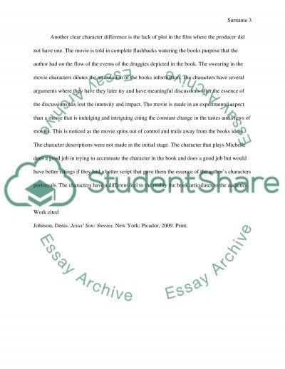 Novel comparison thesis