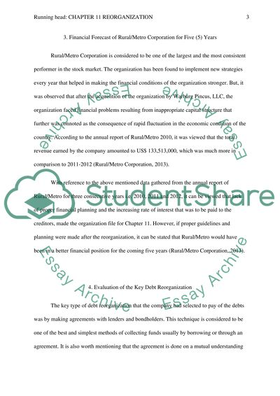 Chapter 11 Reorganization Essay Example | Topics and Well
