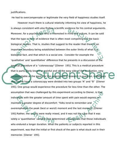 positive psychology research paper