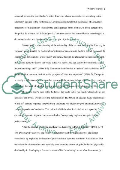 Crime and punishment essay topics