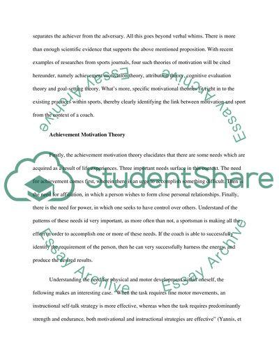 Sports psychology essay