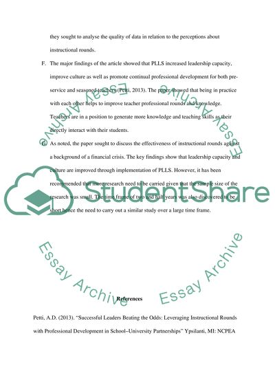 Instructional Rounds (Review 3)