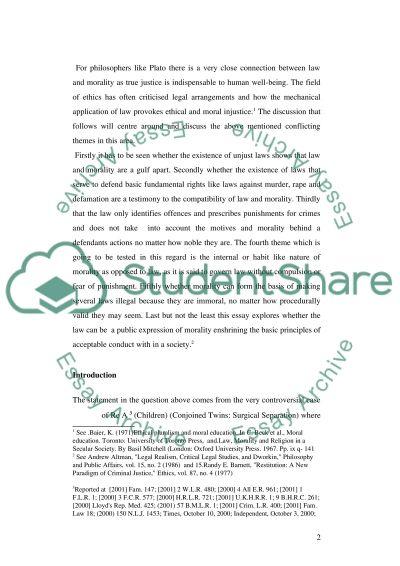 Jurisprudence essay example