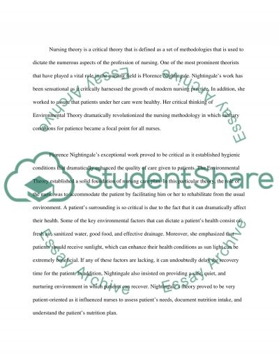NURSING CONCEPTS AND RESEARCH essay example