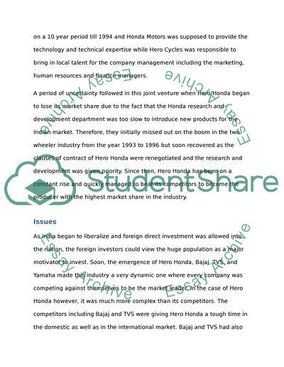 International study case