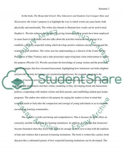 Prejudice Reduction in Education essay example
