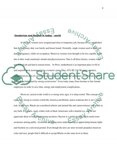 gender and race discrimination essay example topics and well  gender and race discrimination essay example text preview