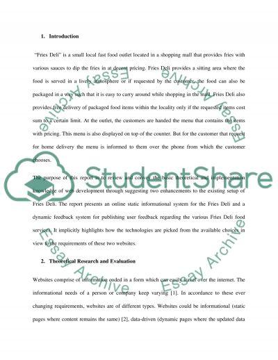 Creative Web design & CMS Development essay example