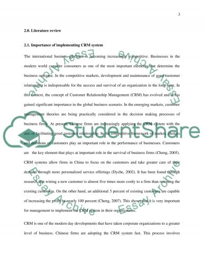 A Study of How Customer Relationship Management be Applied in the Life Insurance Company in China: a Case Study of Ping an Life  Dissertation example