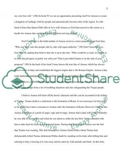 Aeneid essay example