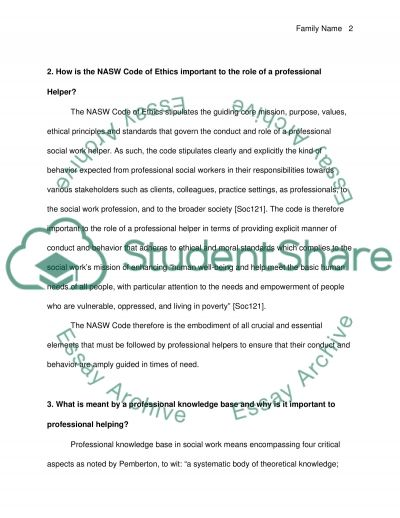 Personal/Professional Helping Paper essay example