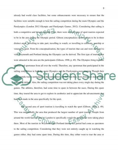 Sports Tourism essay example