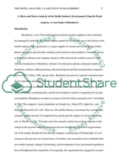marketing environment case study pdf