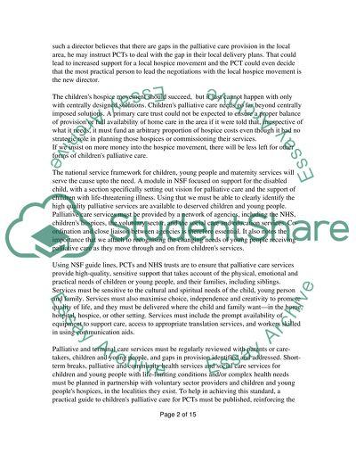 National service framework essay