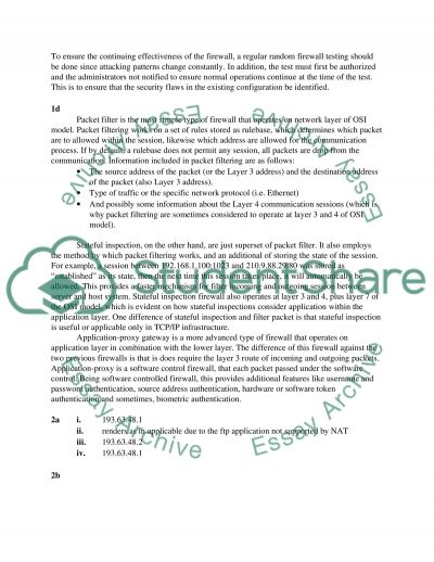 Internet Security special aspects essay example