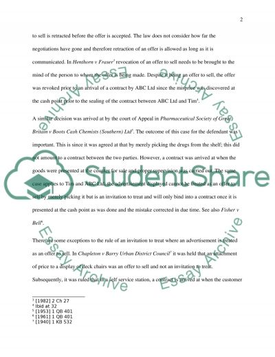 Corporate and Business Law essay example