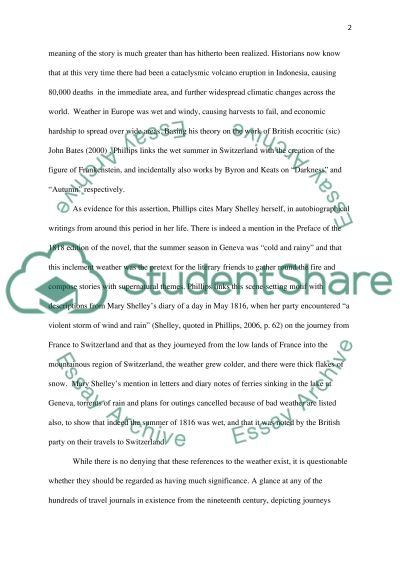 Frankenstein by Mary Shelley essay example