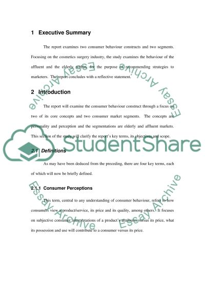 Consumer Behaviour College Essay essay example