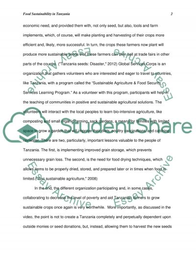 Drought issues/ other necessities for food plan(security) essay example