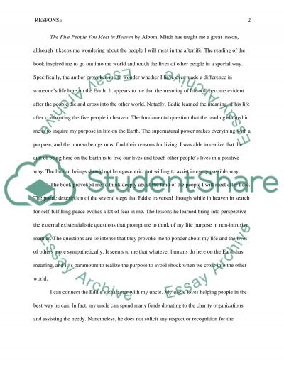 Essay Mother Love The Five People You Meet In Heaven What Is Identity Essay also How To Write A Thesis Essay The Five People You Meet In Heaven Essay Example  Topics And Well  An Essay On Man Sparknotes