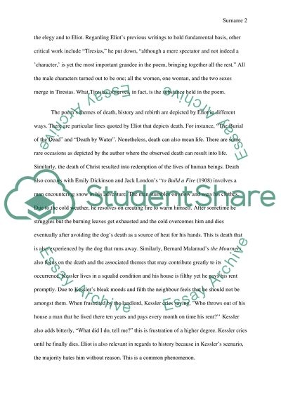 Reflective Essay Thesis Statement Examples  Thesis Statement For An Essay also Science Essays Topics The Wasteland Theme In American Literature Essay Search Essays In English