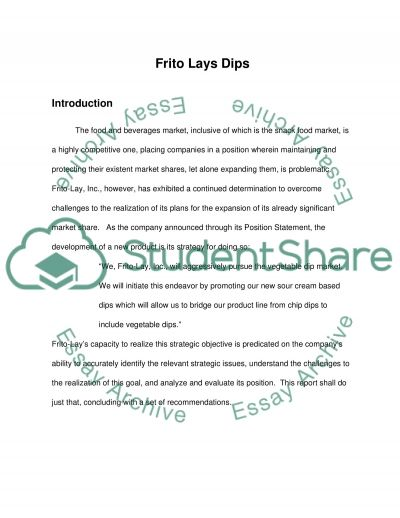 Student Anaylsis on FritoLays Dips essay example