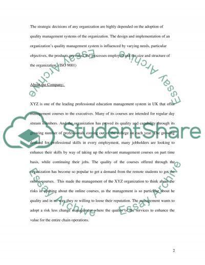 SCENARIO BASED PROJECT REPORT essay example