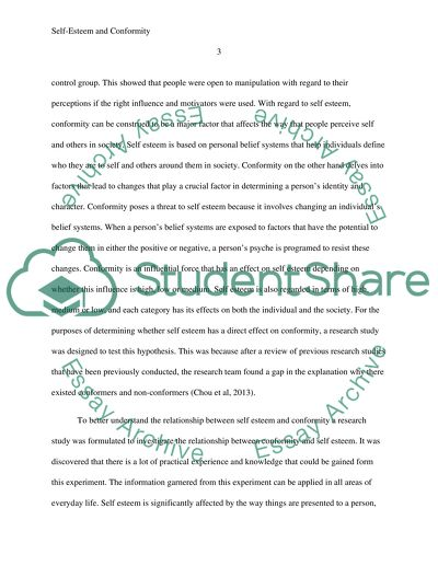 Term Papers And Essays Selfesteem And Conformity Essays About English also How To Write A Good Thesis Statement For An Essay Selfesteem And Conformity Research Paper Example  Topics And Well  Custom Writings Service
