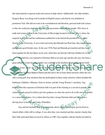 Research paper on scientist Hannah Gay
