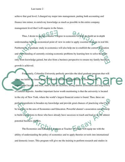 Statement of purpose-columbia university teachers college