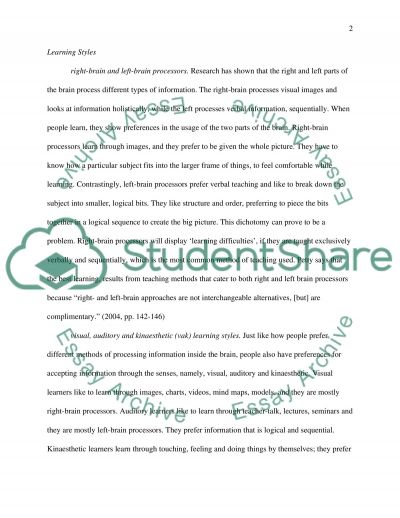 The mechanism of learning essay example