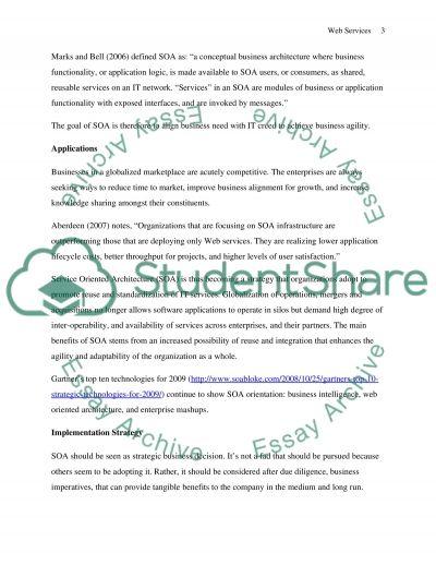 Web Services essay example