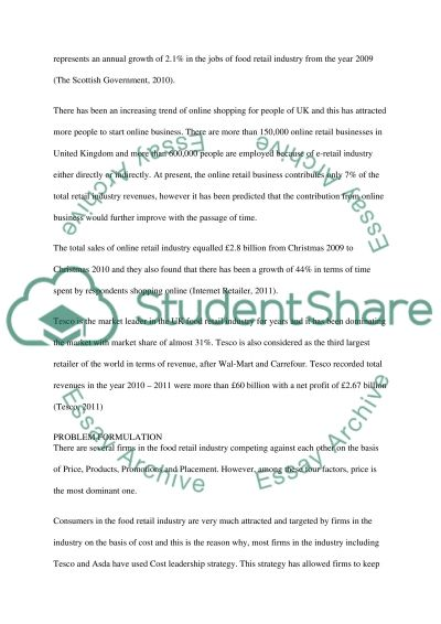 Retail industries of UK essay example