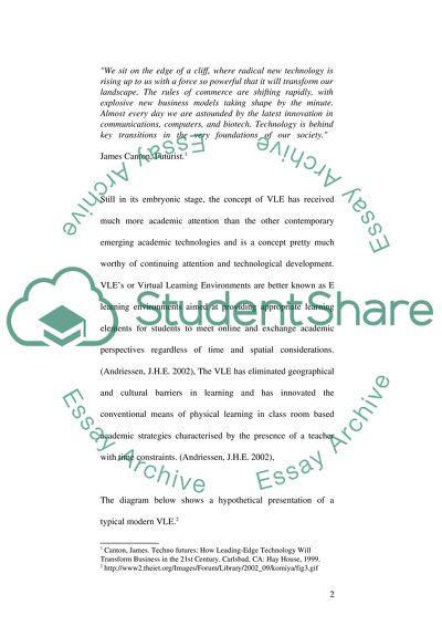 Virtual Learning Environments Essay