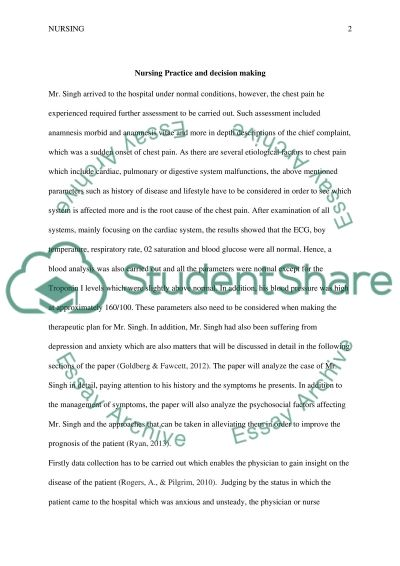 Nursing Practice and Decision Making essay example