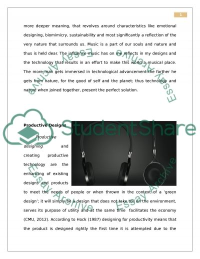 Design Proposal: Who are you as a Designer essay example