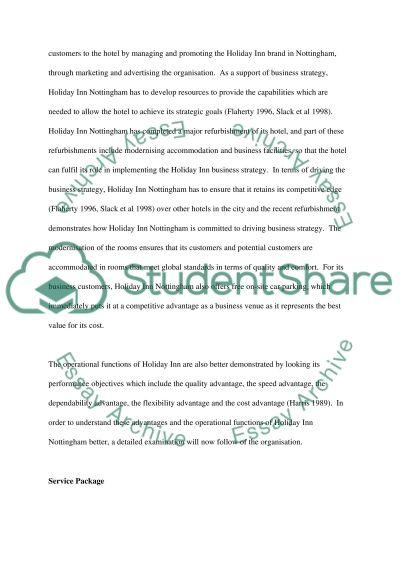 Service Organisation essay example