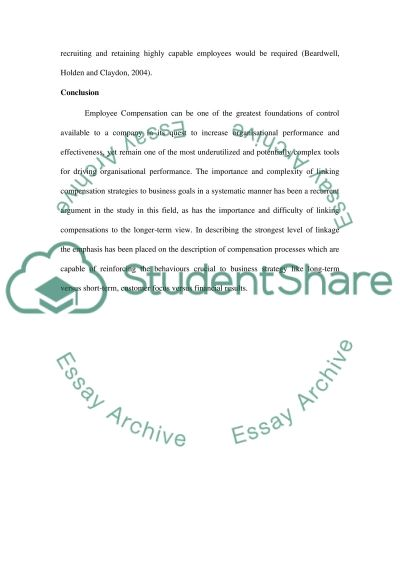 Performance essay example