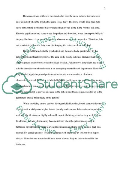 Judy Case Study Essay Example | Topics and Well Written
