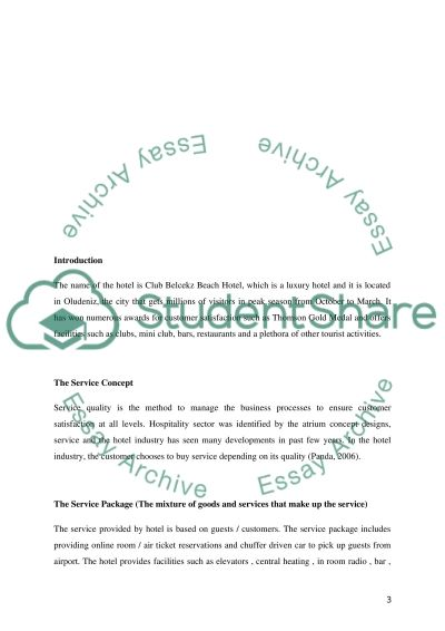 leisure and tourism operations management Essay example