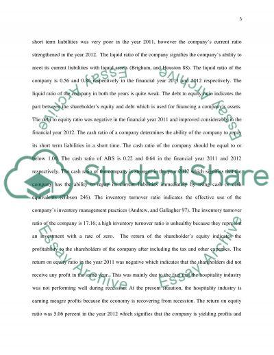 Internal analysis essay example