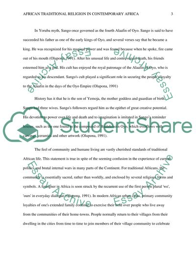 Example Of Proposal Essay The Place Of African Traditional Religion In Contemporary Africa Research Essay Proposal Sample also High School English Essay Topics The Place Of African Traditional Religion In Contemporary Africa Essay Essay In English For Students