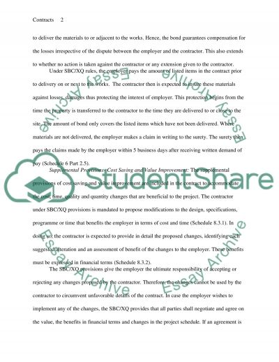 Contract adminstration report essay example