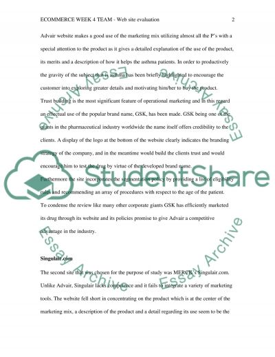 Website Evaluation essay example