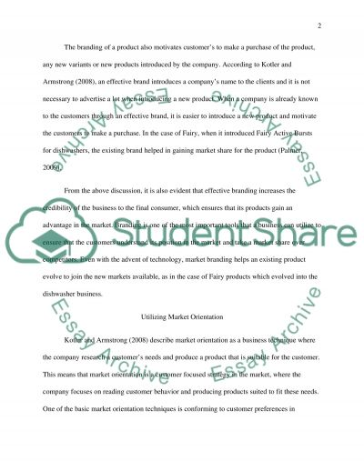 Importance of Branding essay example
