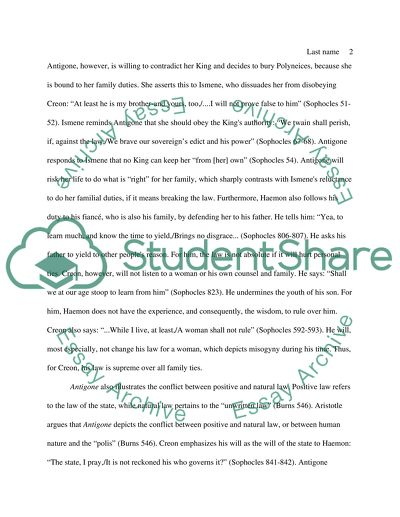 Antigone essay topics