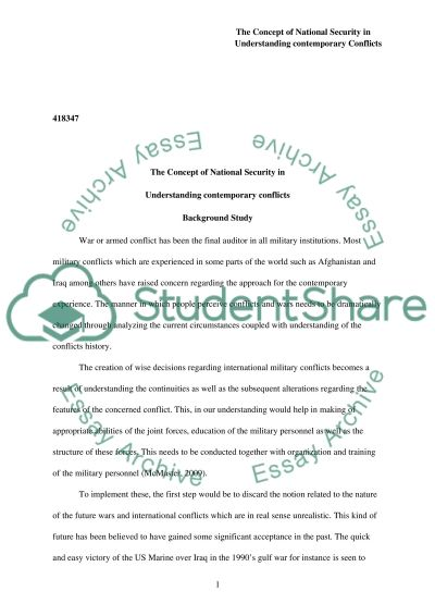 National Security Essay Example | Topics and Well Written Essays ...