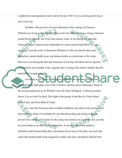 Theatre essay example